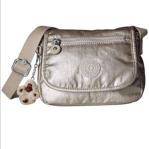 Kipling Sabian Crossbody Mini Bag Metallic NWT